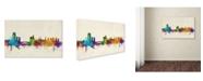 "Trademark Global Michael Tompsett 'Leeds England Skyline III' Canvas Art - 32"" x 22"""