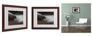 """Trademark Global Monica Fleet 'Cascading Fury' Matted Framed Art - 20"""" x 16"""""""