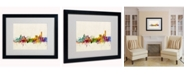 "Trademark Global Michael Tompsett 'Manchester England Skyline' Matted Framed Art - 20"" x 16"""