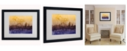 "Trademark Global Michael Tompsett 'London England Skyline III' Matted Framed Art - 20"" x 16"""