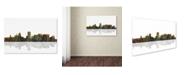 "Trademark Global Marlene Watson 'Portland Oregon Skyline' Canvas Art - 22"" x 32"""