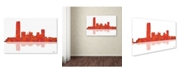 "Trademark Global Marlene Watson 'Oklahoma City Oklahoma Skyline' Canvas Art - 22"" x 32"""
