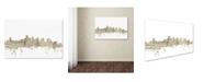 "Trademark Global Michael Tompsett 'Boston Massachusetts Skyline Sheet Music' Canvas Art - 22"" x 32"""
