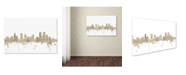 "Trademark Global Michael Tompsett 'Denver Colorado Skyline Sheet Music' Canvas Art - 22"" x 32"""