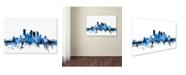 "Trademark Global Michael Tompsett 'Pittsburgh Pennsylvania Skyline II' Canvas Art - 30"" x 47"""