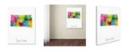 "Trademark Global Michael Tompsett 'South Dakota Map' Canvas Art - 24"" x 32"""