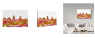 "Trademark Global Marlene Watson 'Camden New Jersey Skyline' Canvas Art - 12"" x 19"""