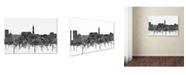 "Trademark Global Marlene Watson 'Cheyenne Wyoming Skyline BW' Canvas Art - 12"" x 19"""