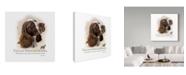 "Trademark Global Howard Robinson 'English Springer Spaniel' Canvas Art - 14"" x 14"""