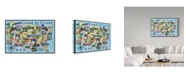 "Trademark Global Jean Plout 'Classic America' Canvas Art - 12"" x 19"""