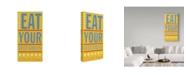 "Trademark Global John W. Golden 'Eat Your Vegetables' Canvas Art - 12"" x 24"""