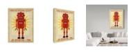 """Trademark Global John W. Golden 'Ted Box Art Robot' Canvas Art - 14"""" x 19"""""""