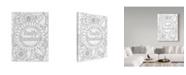 "Trademark Global Valarie Wade 'Smile Sunshine' Canvas Art - 14"" x 19"""