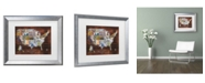 """Trademark Global Masters Fine Art 'Usa License Plate Map On Wood' Matted Framed Art - 14"""" x 11"""""""