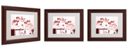 "Trademark Global Miguel Paredes 'Red Orchids' Matted Framed Art - 14"" x 11"""