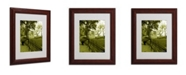 """Trademark Global Miguel Paredes 'Pines IV' Matted Framed Art - 14"""" x 11"""""""