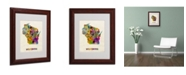 "Trademark Global Michael Tompsett 'Wisconsin Map' Matted Framed Art - 14"" x 11"""