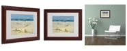 "Trademark Global Rio 'Two Small Boats' Matted Framed Art - 14"" x 11"""