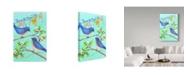 "Trademark Global Melinda Hipsher 'Home Blue Birds' Canvas Art - 16"" x 24"""