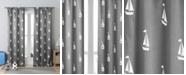 """Duck River Textile Coleman 38"""" x 84"""" Sailboat Print Blackout Curtain Set"""