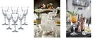 Lorren Home Trends Melodia Crystal Water Glass - Set of 6