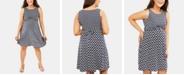 Motherhood Maternity Printed Wrap Dress