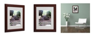 """Trademark Global Monica Fleet 'Endless Stairway' Matted Framed Art - 14"""" x 11"""""""