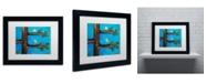 "Trademark Global Nicole Dietz 'Birds in a Tree Mixed Media' Matted Framed Art - 14"" x 11"""