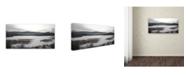 "Trademark Global Kurt Shaffer 'Winter at the Beaver Marsh' Canvas Art - 12"" x 24"""