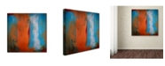 """Trademark Global Nicole Dietz 'Orange Swatch' Canvas Art - 14"""" x 14"""""""