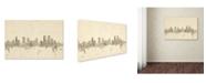 "Trademark Global Michael Tompsett 'Denver Colorado Skyline Sheet Music' Canvas Art - 12"" x 19"""