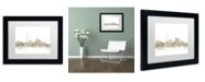 """Trademark Global Michael Tompsett 'Toronto Skyline Sheet Music' Matted Framed Art - 11"""" x 14"""""""