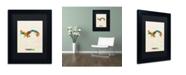 "Trademark Global Michael Tompsett 'Panama Watercolor Map' Matted Framed Art - 11"" x 14"""