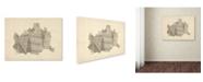 """Trademark Global Michael Tompsett 'Old Sheet Music Map of Vienna' Canvas Art - 14"""" x 19"""""""