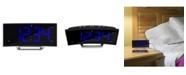 "La Crosse Technology 1.8"" Curved Blue LED Atomic Dual Alarm Clock"