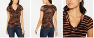 INC International Concepts INC Mesh Animal-Print T-Shirt, Created for Macy's
