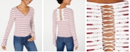 American Rag Juniors' Striped Bell-Sleeve Long-Sleeve T-Shirt, Created for Macy's