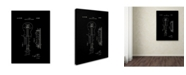 """Trademark Global Claire Doherty 'Gibson Electric Guitar Patent Black' Canvas Art - 14"""" x 19"""""""
