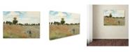 """Trademark Global Claude Monet 'Wild Poppies Near Argenteuil' Canvas Art - 47"""" x 35"""""""