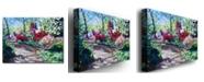 "Trademark Global David Lloyd Glover 'Azalea Pathway' Canvas Art - 24"" x 18"""