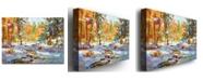 "Trademark Global David Lloyd Glover 'Snowy Autumn' Canvas Art - 47"" x 35"""