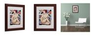 "Trademark Global Catherine Abel 'Cubist Nude Orange and Purple' Framed Art - 14"" x 11"""