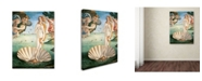 "Trademark Global Sandro Botticelli 'Birth of Venus 1484' Canvas Art - 32"" x 24"""