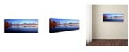 "Trademark Global David Evans 'Lake Wanaka-NZ' Canvas Art - 32"" x 10"""
