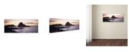 "Trademark Global David Evans 'Sugarloaf Rock-WA' Canvas Art - 19"" x 6"""