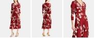 Lauren Ralph Lauren Floral-Print 3/4-Sleeve Jersey Dress