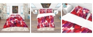 Design Art Designart 'Imprints Of Wine Bottles' Bohemian and Eclectic Duvet Cover Set - King