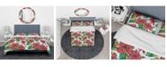 Design Art Designart 'Hibiscuses Floral Pattern' Tropical Duvet Cover Set - Queen