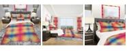 Design Art Designart 'Multicolor Geometric Pattern' Modern Duvet Cover Set - Twin