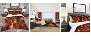 Design Art Designart 'Orange Startbusts' Modern and Contemporary Duvet Cover Set - Twin